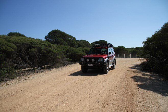 Good gravel roads in Bournda National Park