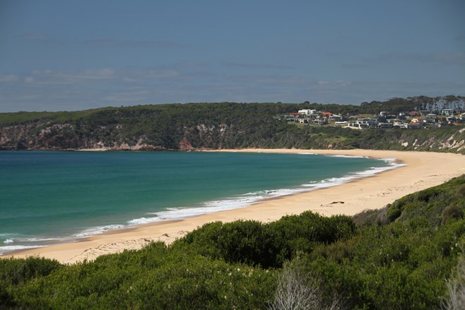 Lookout with view of Merimbula