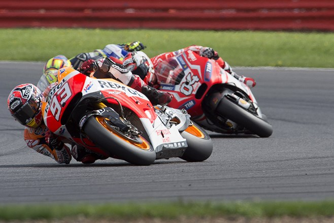 Marc Marquez wins MotoGP at Silverstone