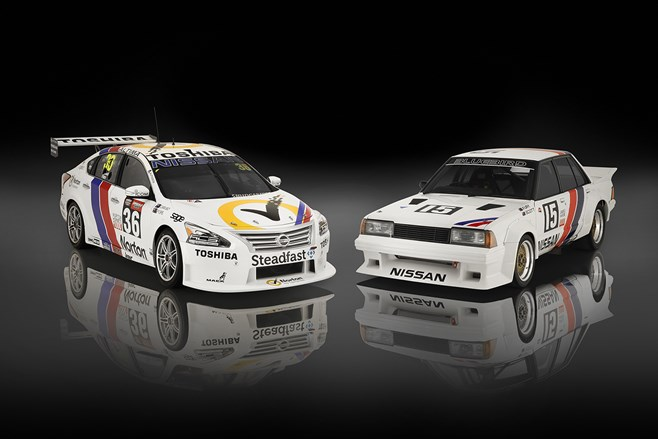 Nissan V8 supercars bathurst 2014 retro livery paint