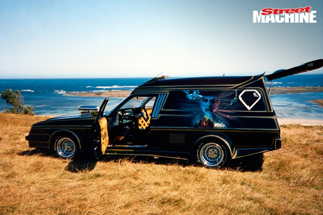 Street Legal Holden HJ Sandman custom van Australia