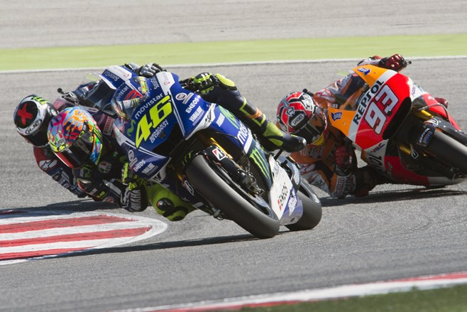 Rossi leads the pack at San Marino