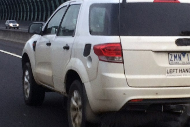 Ford Everest test vehicle