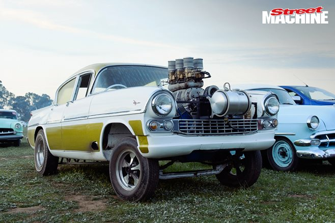 Blown Y-block-powered Vauxhall gasser