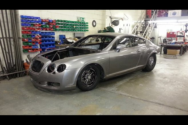 3000hp Bentley Continental GT drag car