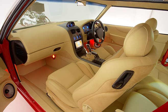 Dallas went to town on TUFFHQ's interior, integrating late model CV8 dash, seats and door trims
