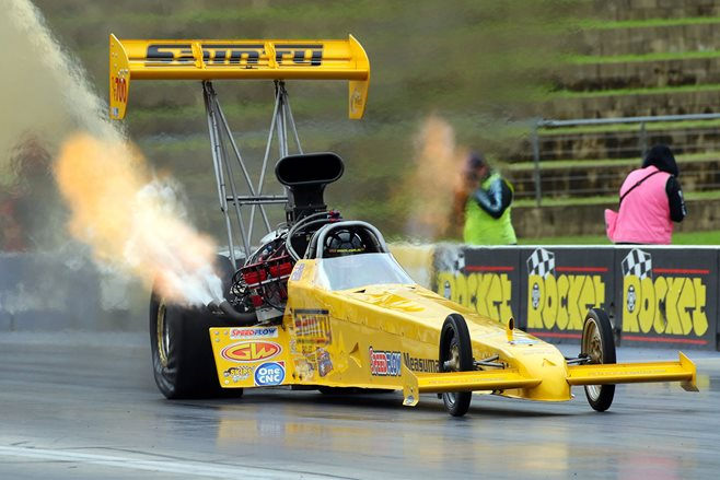 Sainty Top Fuel fire
