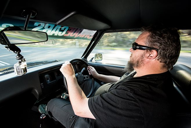 Scotty test-drives our giveaway HQ Holden