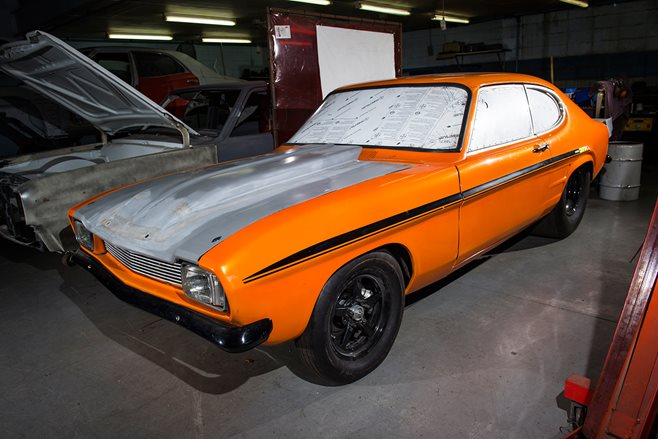 A killer Pro Street Capri being built in Australia for DJ Carl Cox