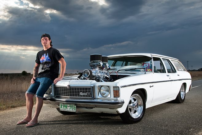 Jake Gillett and his burnout weapon