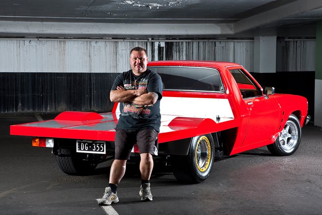 Dwayne Gerdes and his turbo V8 tonner
