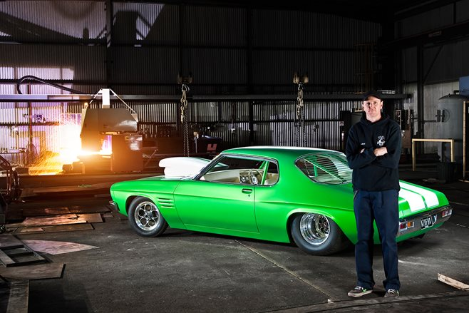 Shannon Jennings and his HQ Monaro
