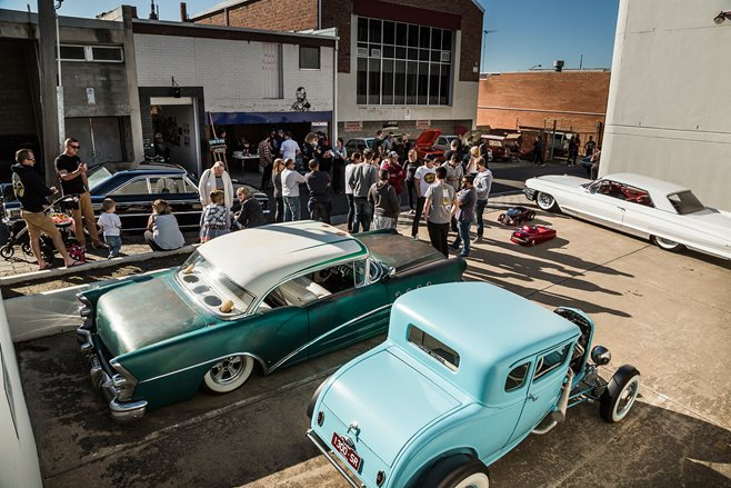 Paul Quaife's '55 Buick and Curtis Grima's Model A