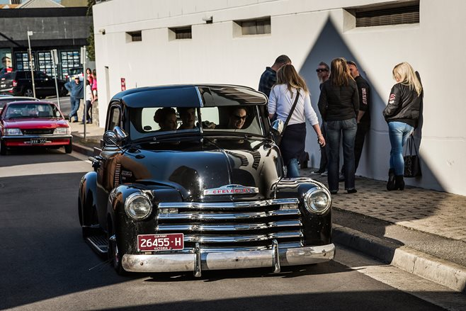 Aaron 'Pozo' Knowles's '52 Chev runs an LS1, Jag front end, four-link rear and airbags all 'round