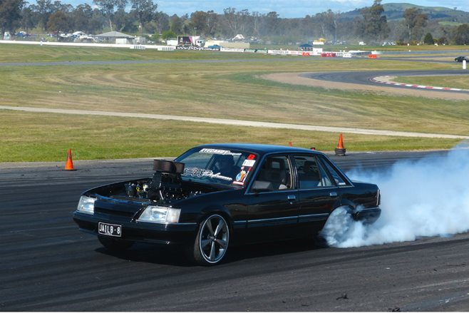 Power skids at Performance Car Mania