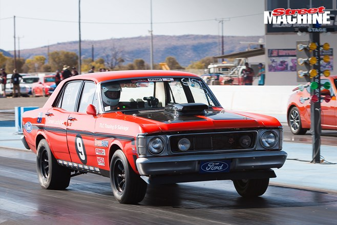 XW Falcon drag car