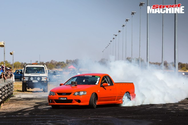 Ford XR8 ute burnout