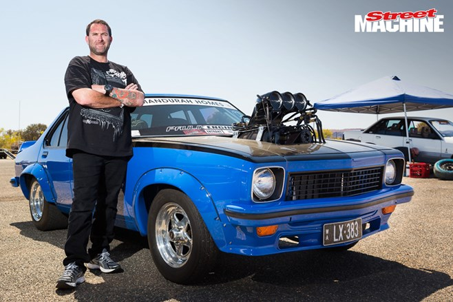 LX Torana burnout car