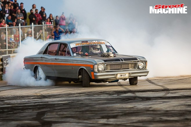 XW Ford Falcon GT burnout