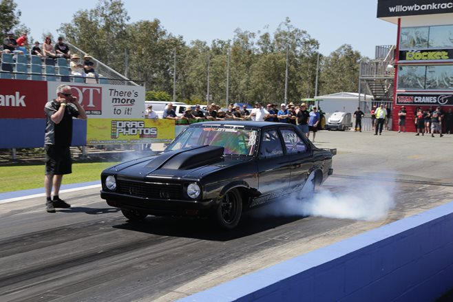 Holden LX Torana burnout