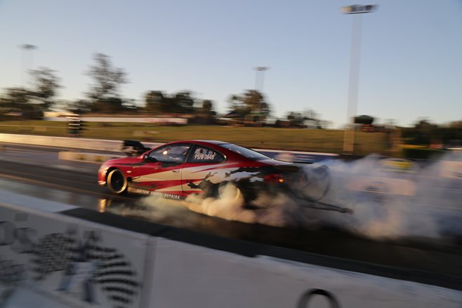 Holden Monaro burnout