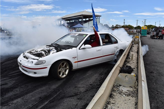 Luke Hadfield's blown XR8 Falcon