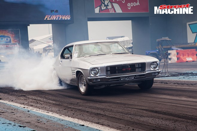 Holden HQ Coupe burnout