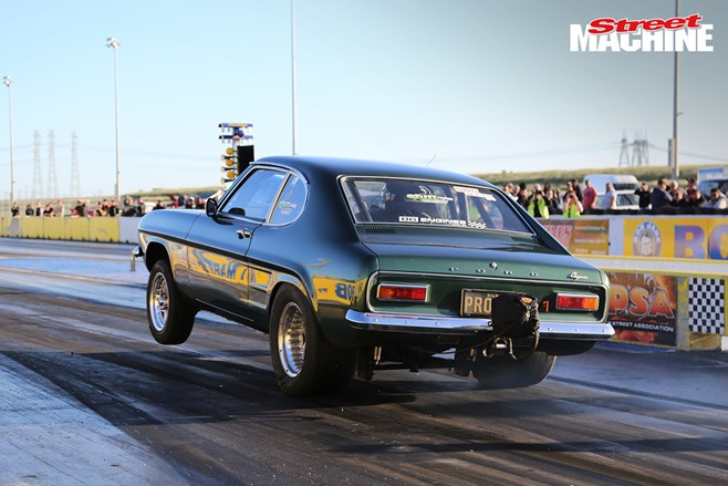 Ford Capri drag race