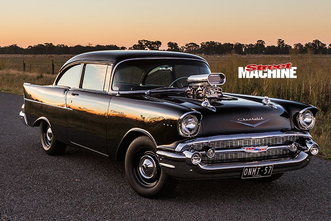 gm running on empty Great car movie from aussie check it out supercharged 2dr 57 chev burn out.
