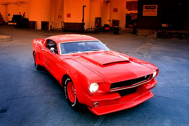 ford mustang front angle