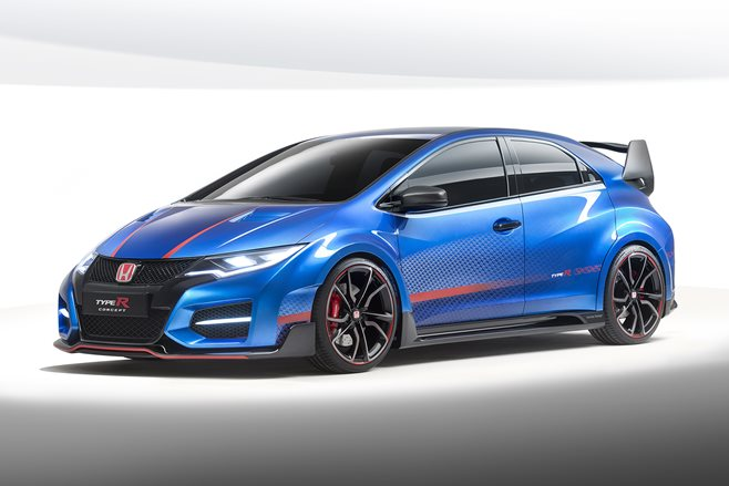 Honda Civic Type R revealed concept Paris motor show 2014