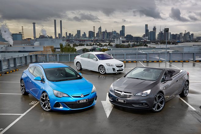 Holden Opel line up