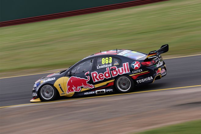 Craig Lowndes V8 Supercar Red Bull Racing test drive