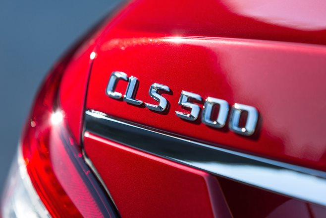 Mercedes-Benz CLS500 badge
