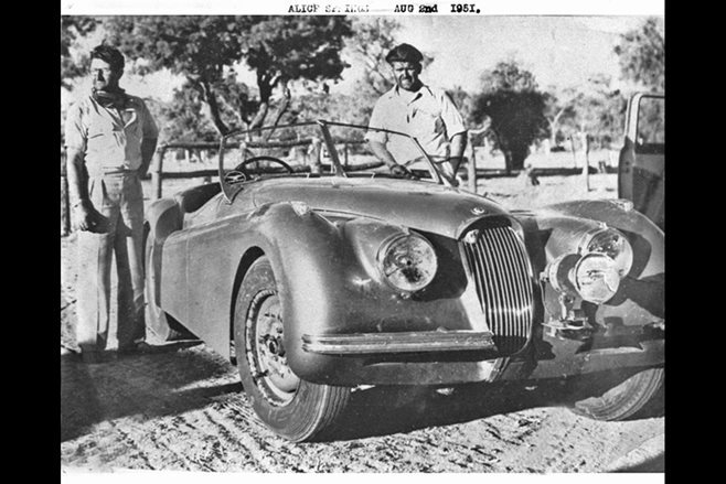 Jaguar XK120 Darwin to Alice Vanishing Point