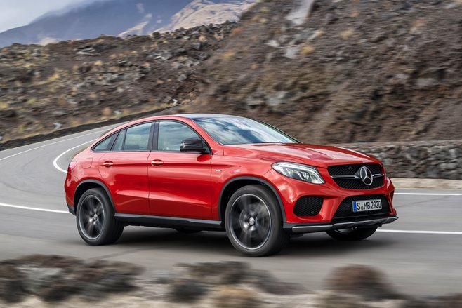 Mercedes-Benz GLE 450 cornering