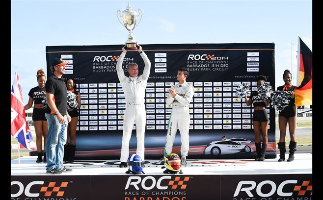 Race of Champions podium