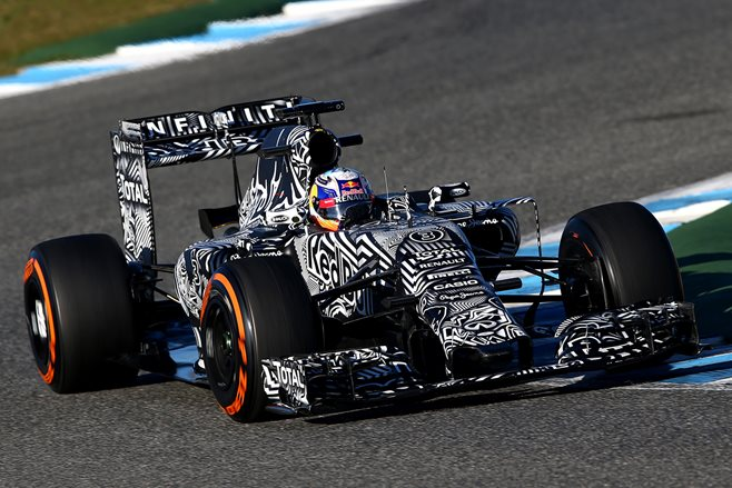Daniel Ricciardo tests at Jerez