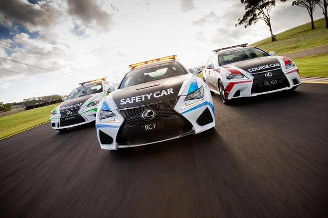 Lexus stumps up course, medical, safety cars for the 2015 V8 Supercars season