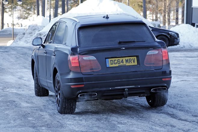 Bentley Bentayga spy images