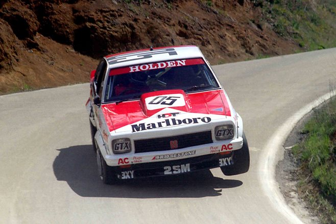 Peter Brock on his way to winning Bathurst in 1979