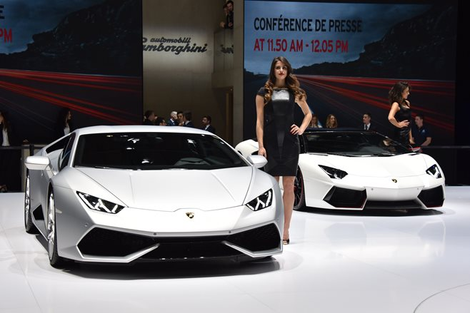 Lamborghini at the 2015 Geneva Motor Show