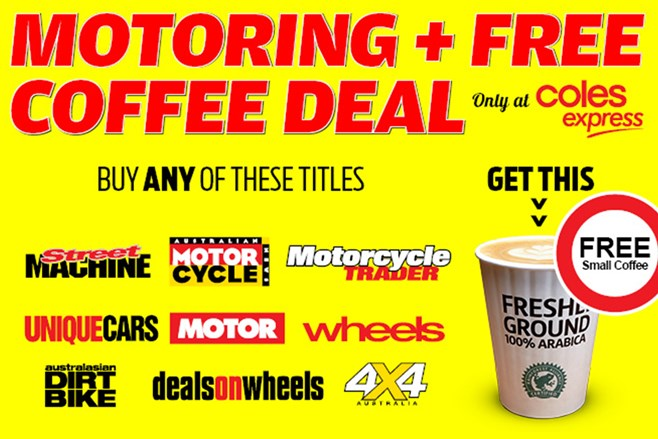 Buy Wheels mag and get a free coffee!