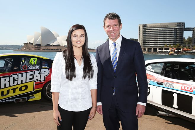 Renee Gracie with NSW premier Mike Baird