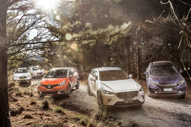 Holden Trax v Honda HR-V v Mazda CX-3 sTouring v Renault Captur v Suzuki S-Cross comparison review