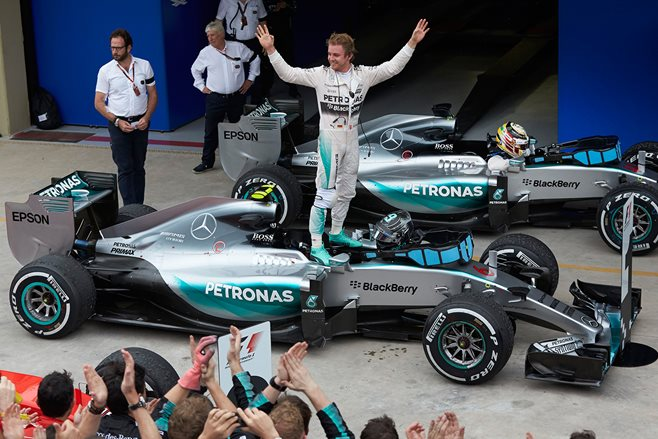 Rosberg  seals the deal in F1 Brazil