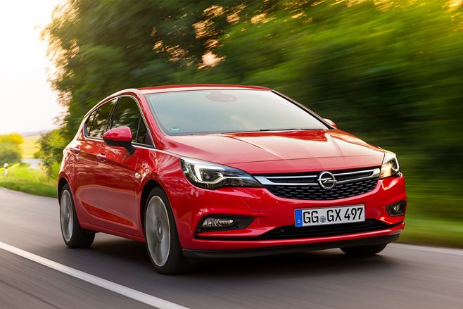 Holden Astra driving front