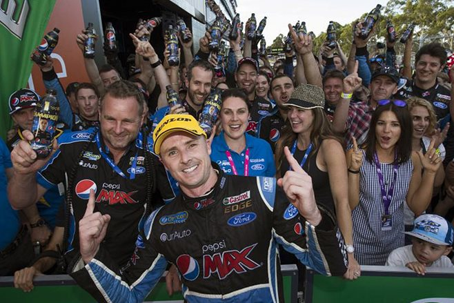 Humble celebrations for Mark Winterbottom's V8 Supercars win, says Ford