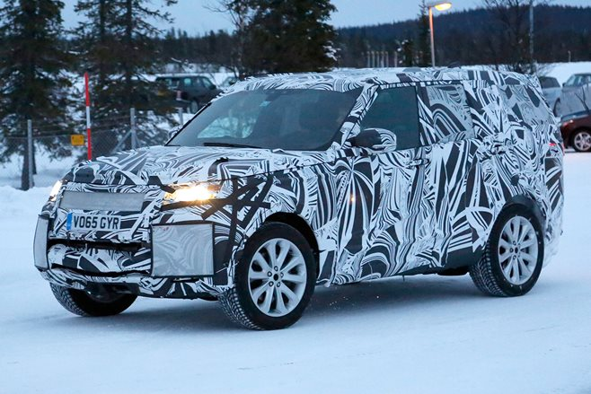 2017 Land Rover Discovery 5 spy pics
