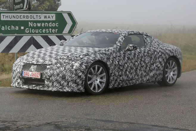 A top secret Toyota electric sports car yesterday